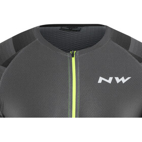Northwave Storm Air Maillot manches courtes Homme, graphite/yellow